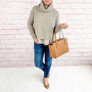 🍁👜 The Limited Cowl Neck Tan Sweater - Small